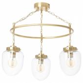 ОТЕРСКЕН Подвесной светильник с 3 лампами, прозрачное стекло