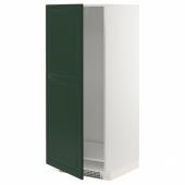 МЕТОД Высок шкаф д холодильн/мороз, белый, Будбин темно-зеленый, 60x60x140 см